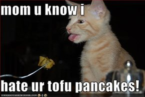 mom u know i   hate ur tofu pancakes!
