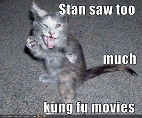 Stan saw too much kung fu movies