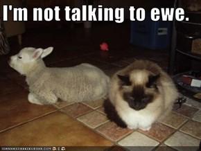 I'm not talking to ewe.