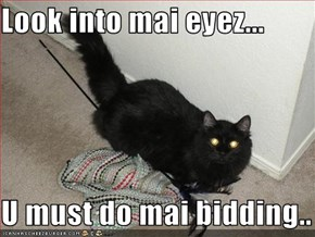 Look into mai eyez...  U must do mai bidding..