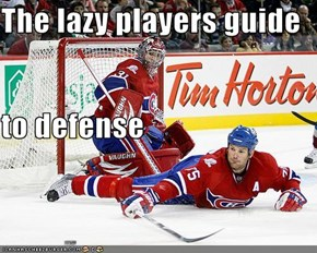 The lazy players guide  to defense