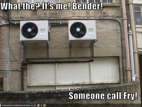 What the? It's me! Bender!  Someone call Fry!