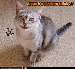 iz can b a cheshire kitteh 2 ?