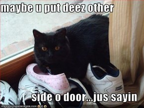 maybe u put deez other  side o door...jus sayin