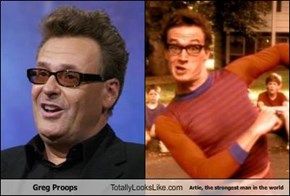 Greg Proops Totally Looks Like Artie, the strongest man in the world
