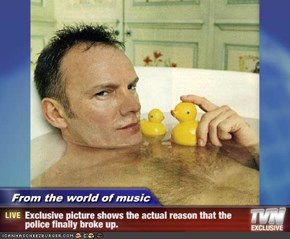 From the world of music - Exclusive picture shows the actual reason that the police finally broke up.