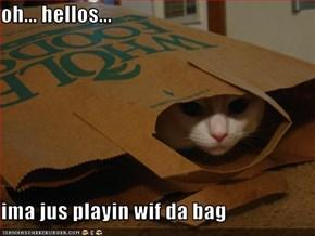 oh... hellos...  ima jus playin wif da bag