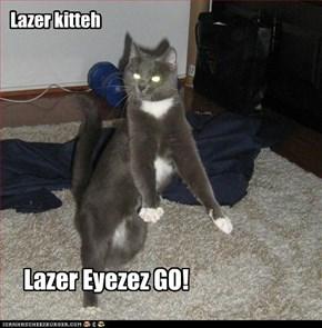 Lazer kitteh