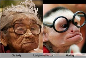 Old Lady Totally Looks Like Monkey