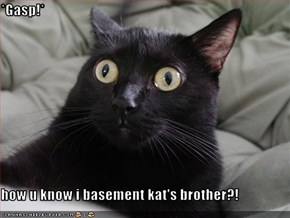 *Gasp!*  how u know i basement kat's brother?!