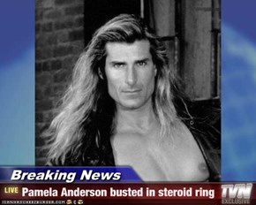 Breaking News - Pamela Anderson busted in steroid ring