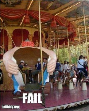 Tea Cup Ride Fail