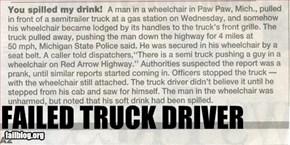 Truck Driver Fail