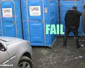 FAIL FINDING TOILET