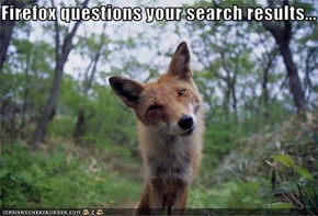 Firefox questions your search results...