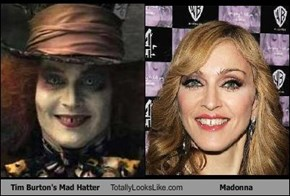 Tim Burton's Mad Hatter Totally Looks Like Madonna
