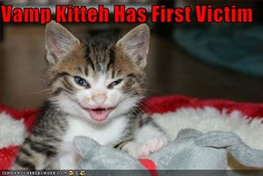 Vamp Kitteh Has First Victim