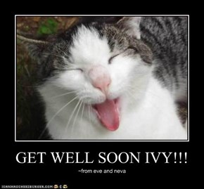 GET WELL SOON IVY!!!