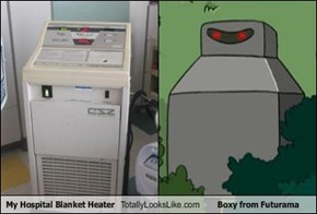 My Hospital Blanket Heater Totally Looks Like Boxy from Futurama