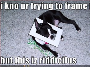 i kno ur trying to frame me...  but this iz riddicilus