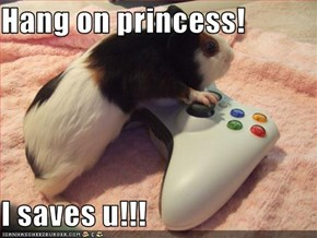 Hang on princess!  I saves u!!!
