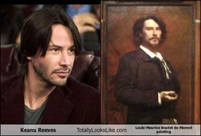 Keanu Reeves Totally Looks Like Louis-Maurice Boutet de Monvel painting