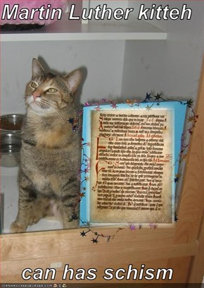 Martin Luther kitteh  can has schism