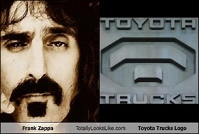 Frank Zappa Totally Looks Like Toyota Trucks Logo