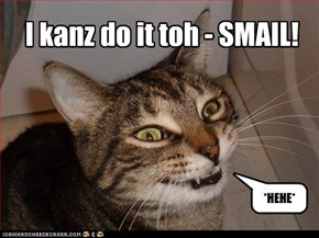 I kanz do it toh - SMAIL!