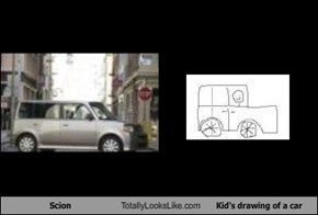 Scion Totally Looks Like Kid's drawing of a car