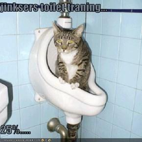 jinksers toilet traning...  25%.....