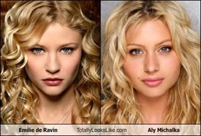 Emilie de Ravin Totally Looks Like Aly Michalka
