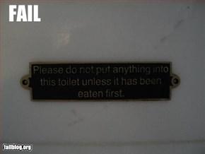 Toilet Sign Fail