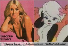 Suzanne Somers Totally Looks Like Miss Mam'selle Hepzibah