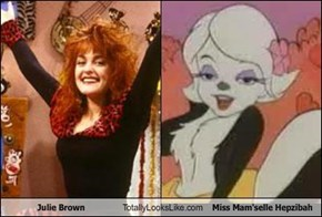 Julie Brown Totally Looks Like Miss Mam'selle Hepzibah