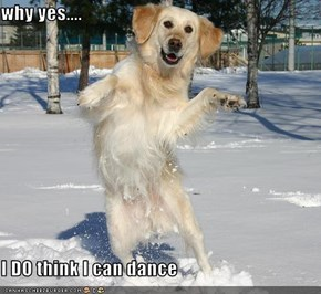 why yes....  I DO think I can dance