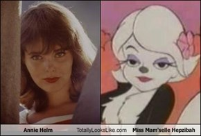 Annie Helm Totally Looks Like Miss Mam'selle Hepzibah