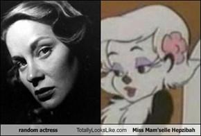 random actress Totally Looks Like Miss Mam'selle Hepzibah