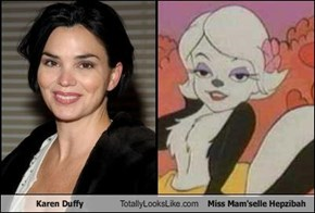 Karen Duffy Totally Looks Like Miss Mam'selle Hepzibah