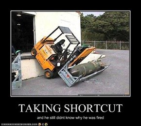 TAKING SHORTCUT