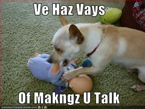 Ve Haz Vays  Of Makngz U Talk