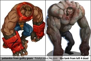 potemkin from guilty gears Totally Looks Like the tank from left 4 dead