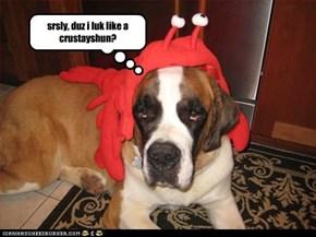 srsly, duz i luk like a crustayshun?