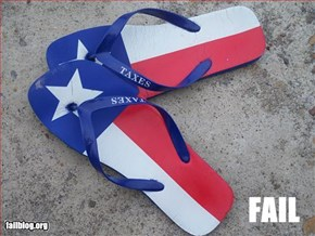 Texas Footwear Fail