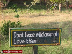 Wild Animals have feelings too...