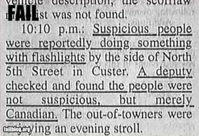 Suspicious Fail