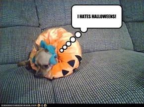 I HATES HALLOWEENS!