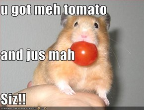 u got meh tomato and jus mah Siz!!
