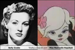Betty Grable Totally Looks Like Miss Mam'selle Hepzibah