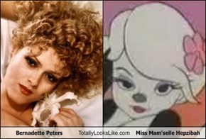 Bernadette Peters Totally Looks Like Miss Mam'selle Hepzibah
